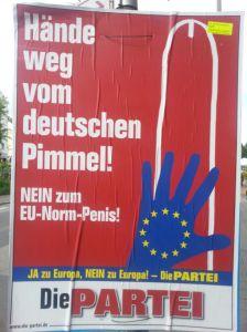 Een poster van Die Partei