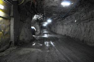 Een van de mijntunnels
