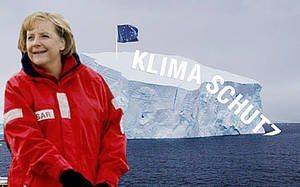 Merkel op de Noordpool, Foto van blogger Und der Honigmann sagt
