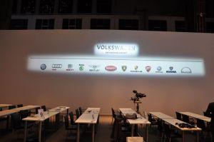 De twaalf merken van VW op een rij, Foto MK