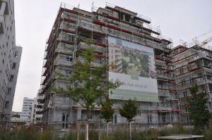 Nieuwe woonprojecte4n in het centrum van Berlijn zijn relatief schaars. Een van de grootste en meest gewilde is aan het park am Gleisdreieck op een paar honderd meter van het Potsdamerplatz, Foto MK