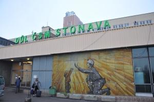 De ingang van de CSM mijn, een van de vier Tsjechische kolenmijnen van OKD, dat op zijn beurt eigendom is van het in londen genoteerde New World Resources, Foto: MK