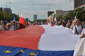 De demonstratie ging dwars door het centrum over de avenue Marszalkowska naar het plac Konstytucji