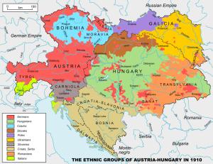 Oostenrijk-Hongarije in 1910 voordat het uiteenviel