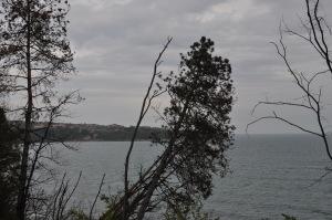 Uitzicht vanaf het villapark is niet slecht, hoewel hier het weer niet echt meezat, Foto: MK