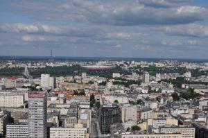 Uitzicht over Warschau vanuit het Kulturpalast, Foto MK