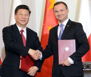 Li Keqiang met president Duda