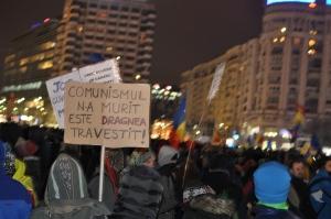 Demo op Piata Victoriei, Foto MK